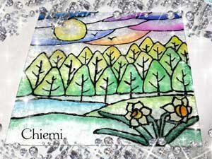 セラピールーム☆きらり館 パステルステンドグラスアートなのの森考案の図案2